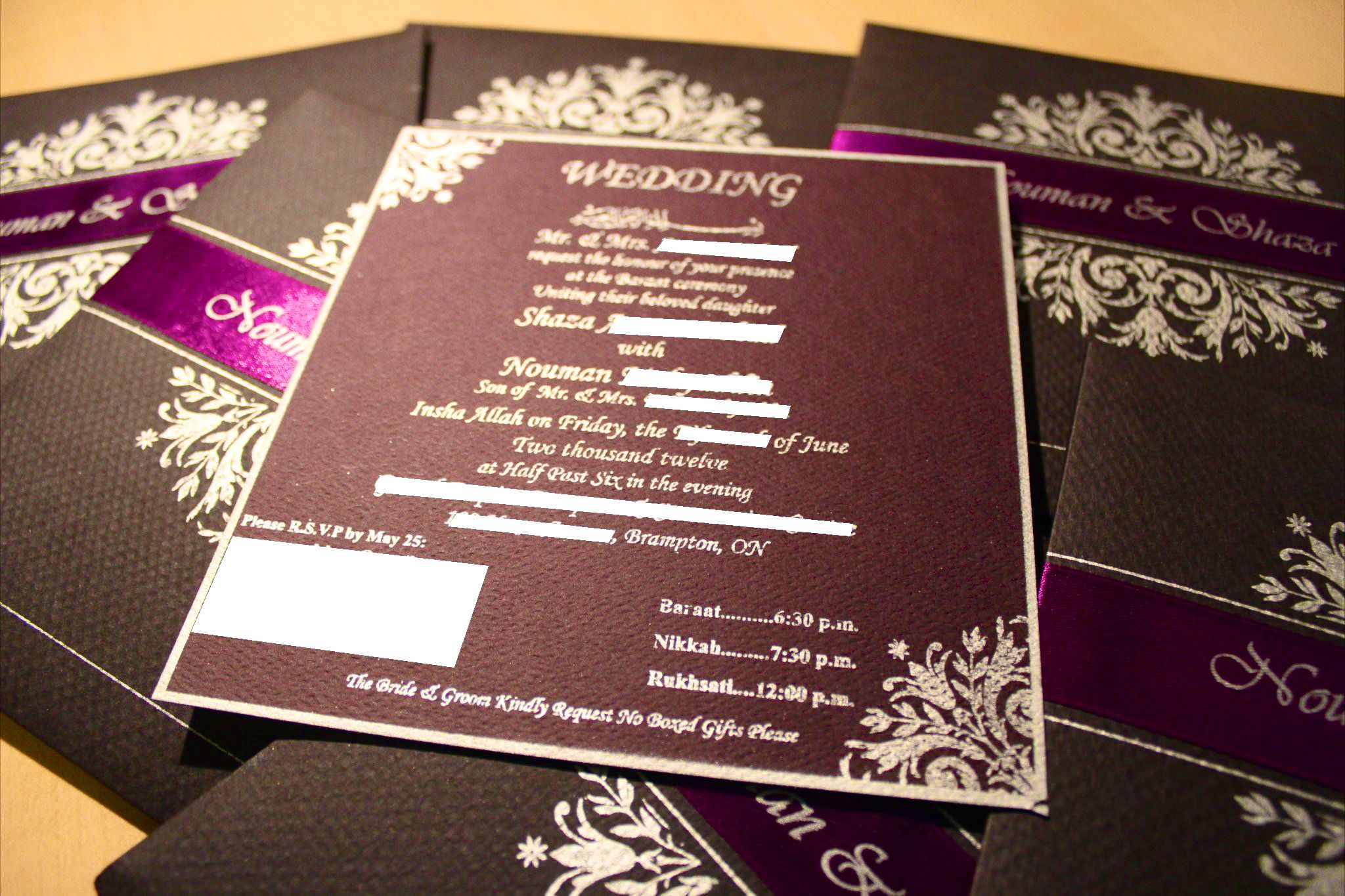 Wedding Invitation | Shaza\'s Scrapbook